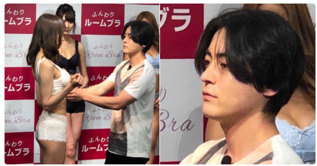 山田孝之、イベントでバスト測定している表情が神の領域すぎて話題に