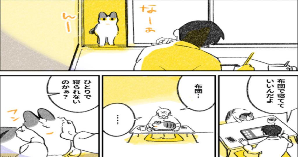 「一緒に寝る猫」読んでいるだけで心がほっこりしてしまう