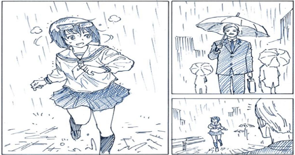 雨の中をズブ濡れになって走る少女・・・思わず腹筋が崩壊してしまった